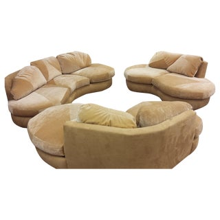 Vintage 1960s Retro Custom Sofas - Set of 3