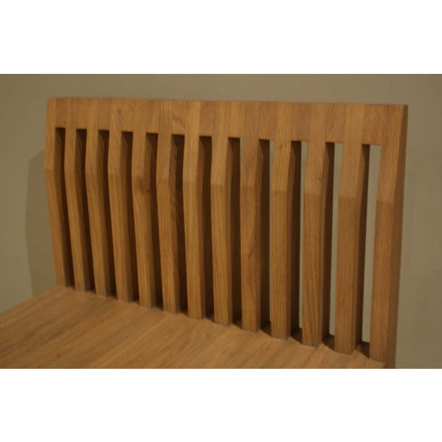 Natural Oak Slat Back Accent Chair - Image 4 of 6