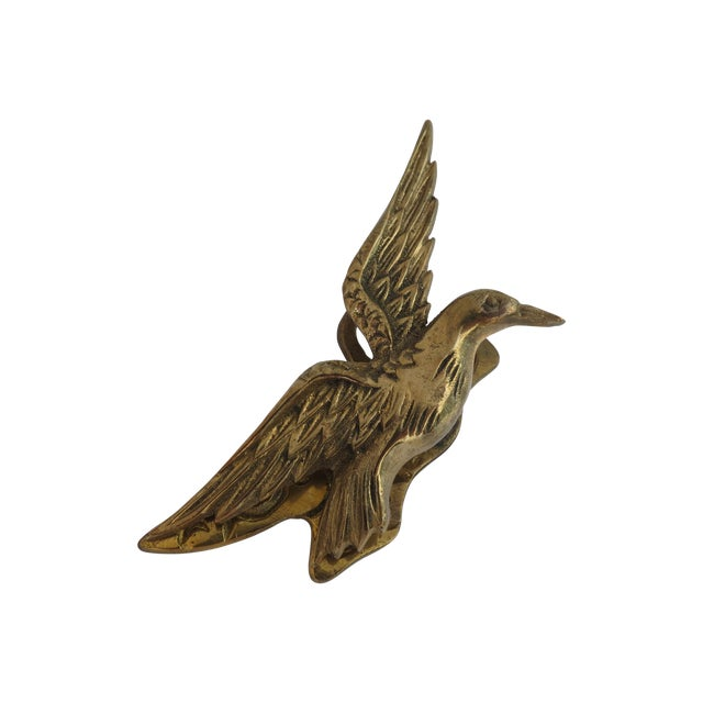 Image of Brass Hummingbird Paper Clip