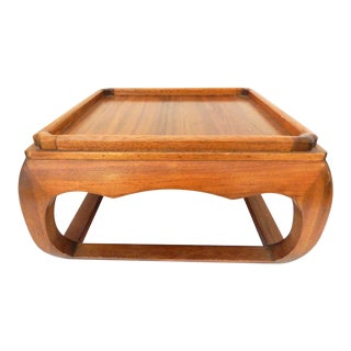Asian Square Elm Wood Low Coffee Table
