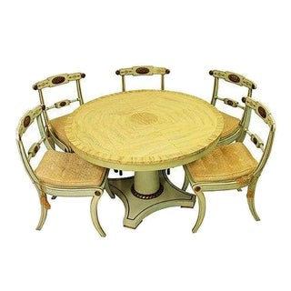 Antique Italian Painted Dining Set