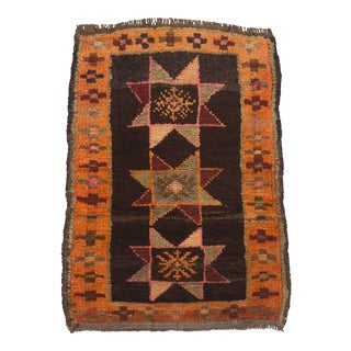 Vintage Hand Knotted Rug - 1′10″ × 2′6″