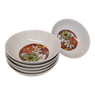 1960s Vintage Noritake Culabra Pattern Bowls - Set of 6