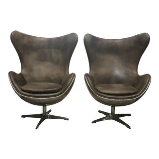 Andrew Martin Hirshorn Spitfire Chairs - a Pair