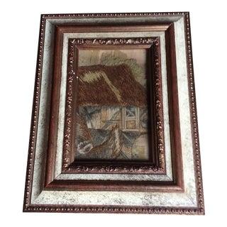 Framed 18th Century Stumpwork Fragment