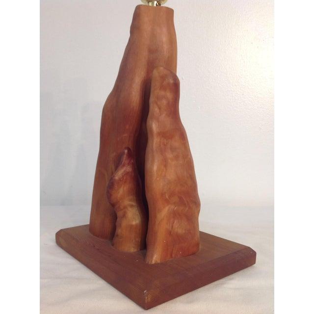 Image of Vintage Cypress Knee Driftwood Table Lamp