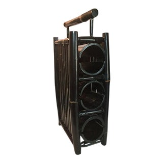 Vintage Bamboo 3-Bottle Wine Rack
