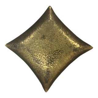 Vintage Hammered Brass Tray