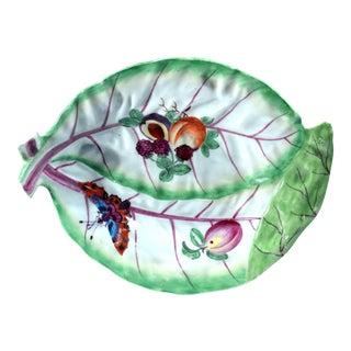 Chelsea Porcelain Trompe L'oeil Leaf Dish