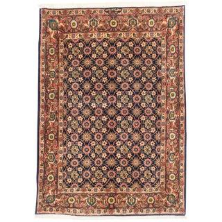 "Varamin Vintage Persian Rug, 4'11"" x 6'9"""