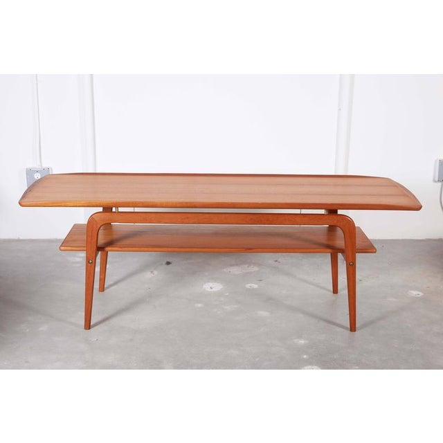 Danish Coffee Table with Shelf - Image 2 of 6