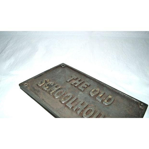 Image of The Old Schoolhouse Antique Iron Sign