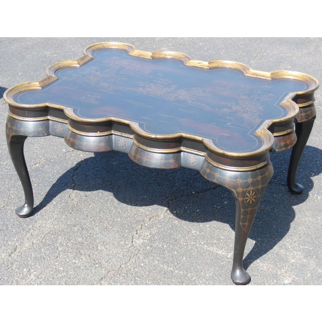 Chinoiserie Ebonized & Gilt Coffee Table - Image 4 of 6