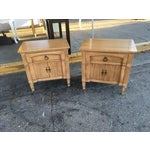 Image of Thomasville Mid-Century Nightstands - A Pair