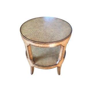 Faux Ostrich Side Table
