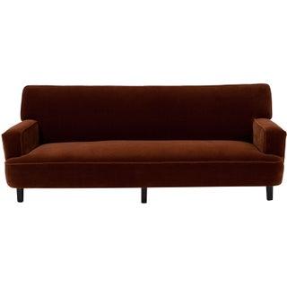 George Nelson Cognac Mohair Sofa