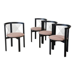 Set of Four Niels Jorgen Haugesen String Chairs