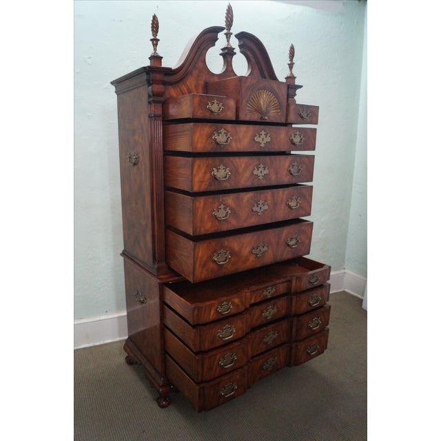 Theodore Alexander Mahogany Chippendale Highboy - Image 2 of 10