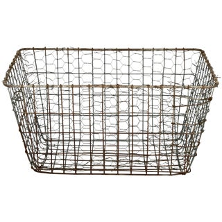 Vintage Wire Vegetable Drying Basket