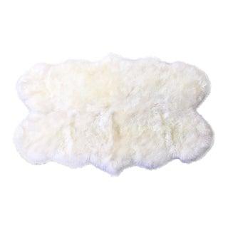 Quad Sheepskin Rug - 3′7″ × 6′