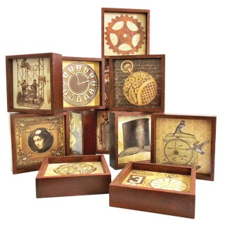 Steampunk Drink Coasters - Set of 12