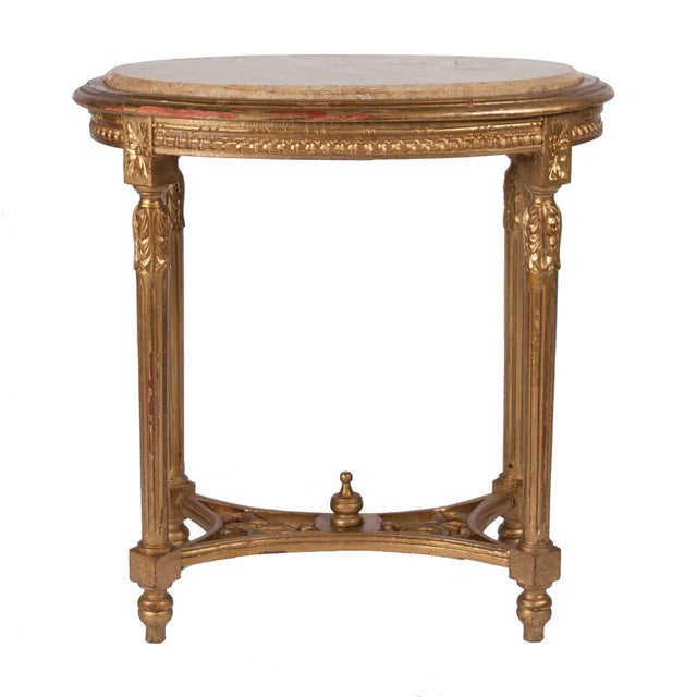 Italian Louis XVI Style Gilt Side Table - Image 2 of 4