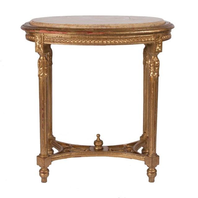 Image of Italian Louis XVI Style Gilt Side Table