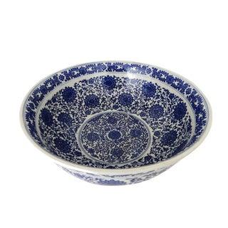 Blue & White Round Bowl