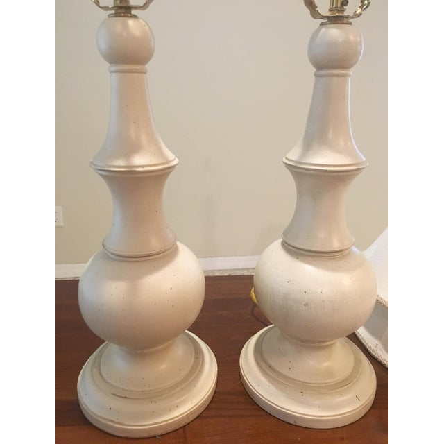 Ethan Allen Shabby Chic Table Lamps - A Pair - Image 3 of 4