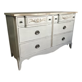Hepplewhite 6-Drawer Mahogany Dresser