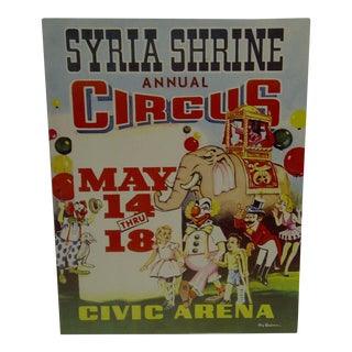 Syria Shrine Annual Circus Poster