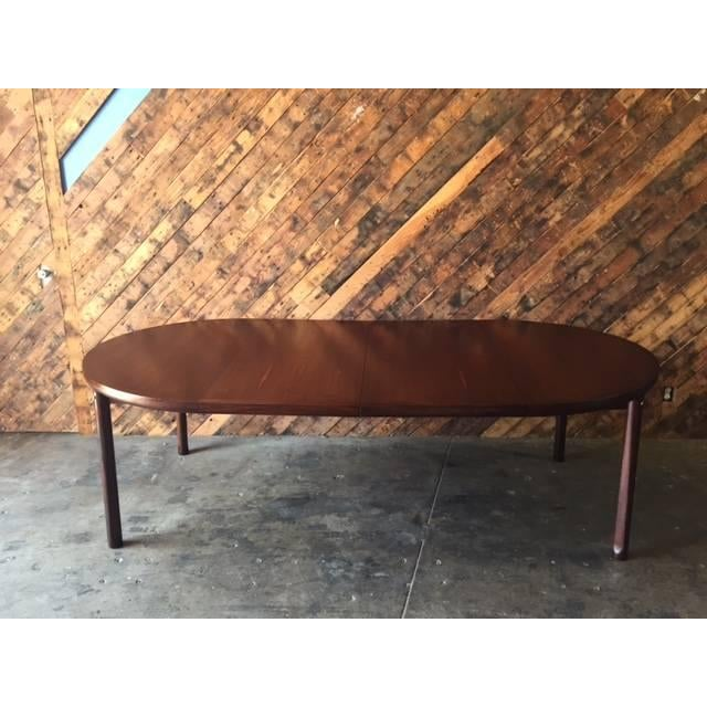 Mid-Century Solid Rose Wood Dining Table - Image 3 of 6