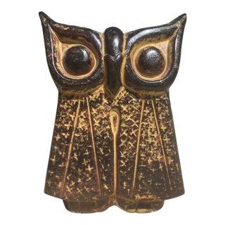 Mid-Century Studio Pottery Owl Vase