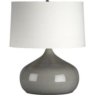 Grey Porcelain Table Lamp by Crate and Barrel
