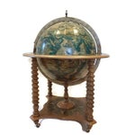 Image of Mid-Century World Globe Bar Cart