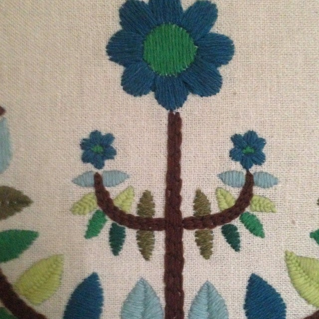 Vintage Tree of Life Textile Wall Art - Image 5 of 11