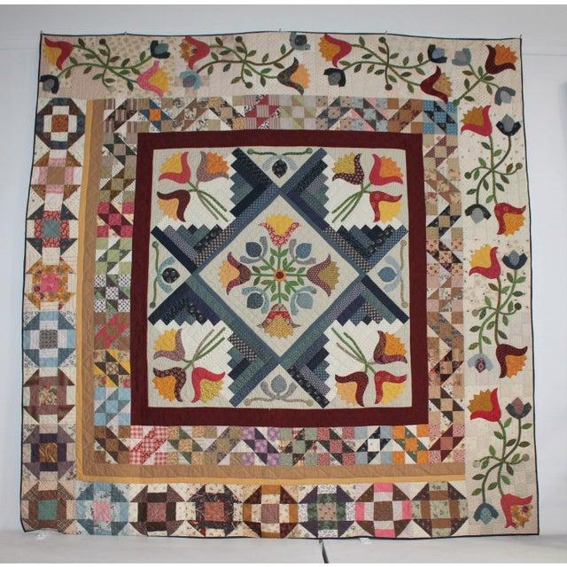 Image of 20th Century Amazing Center Star Medallion Quilt