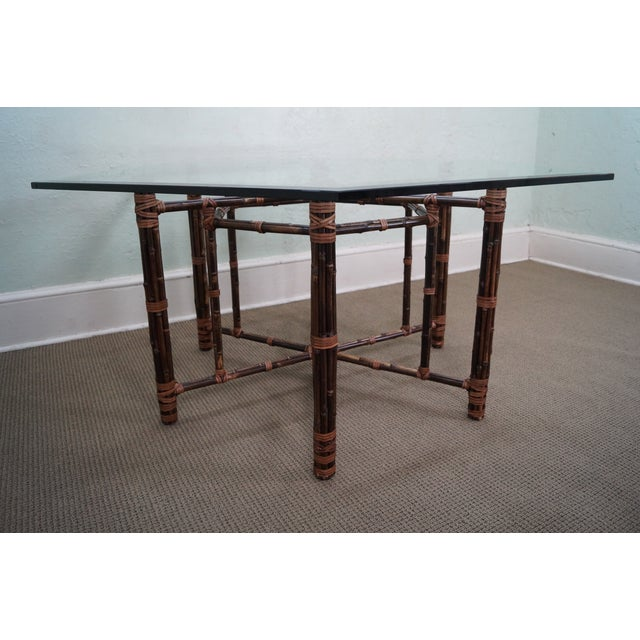 McGuire Rattan Dining Table - Image 4 of 10