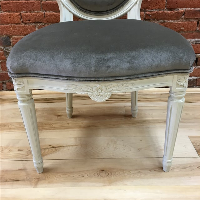 Swedish Gustavian Style Side Chair - Image 7 of 9