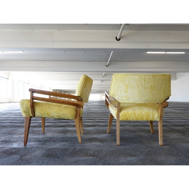 Paul Laszlo for Brown Saltman Lounge Chairs - Pair - Image 4 of 6