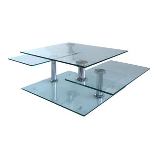 Mid-Century Metaphoric Glass & Chrome Coffee Table