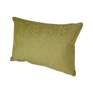 Chartreuse Leopard Kidney Pillow