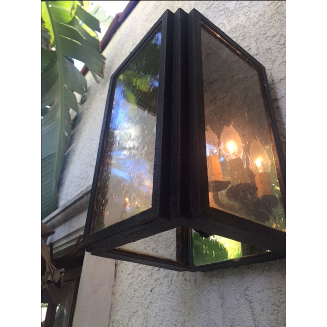 Iron and Glass Outdoor Lantern - Image 3 of 6