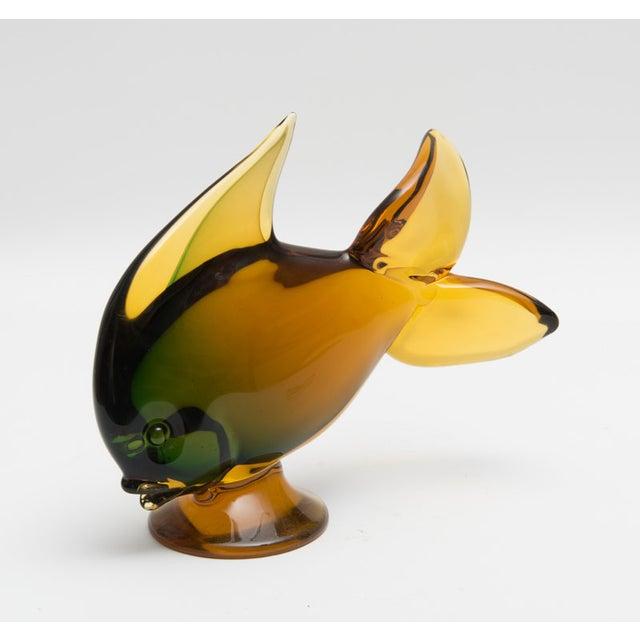 Vintage hand blown glass fish figurine chairish for Blown glass fish