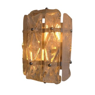 Paul Marra Faceted Glass Sconce