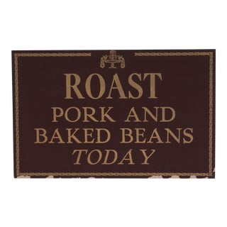 Roast Pork Restaurant Sign