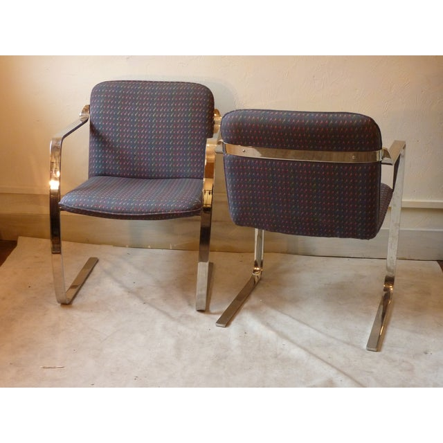 Modern Bruno Style Chairs - A Pair - Image 4 of 5