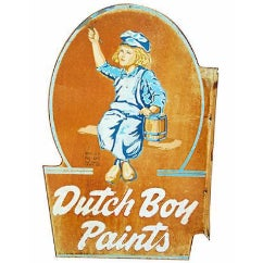 Vintage Mid-Century Dutch Boy Paints Trade Sign