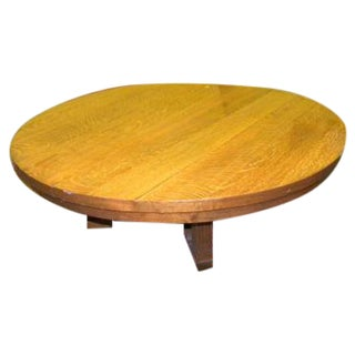 Vintage Arts and Crafts Style Oak Coffee Table