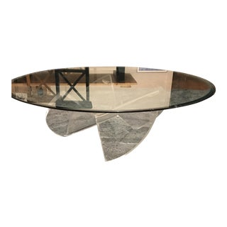 Vintage Lucite Acrylic Propeller Coffee Table